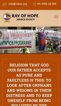 ROHSS - RAY OF HOPE SERVICE SOCIETY poster