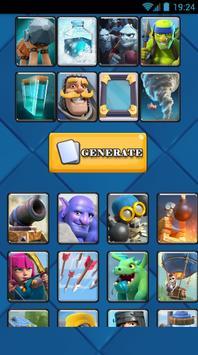 Random Clash Royale Deck poster