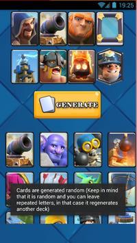 Random Clash Royale Deck apk screenshot