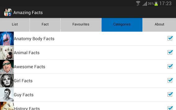 Amazing Facts apk screenshot