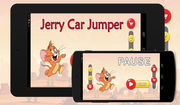 Jerry Car Climb jumper poster