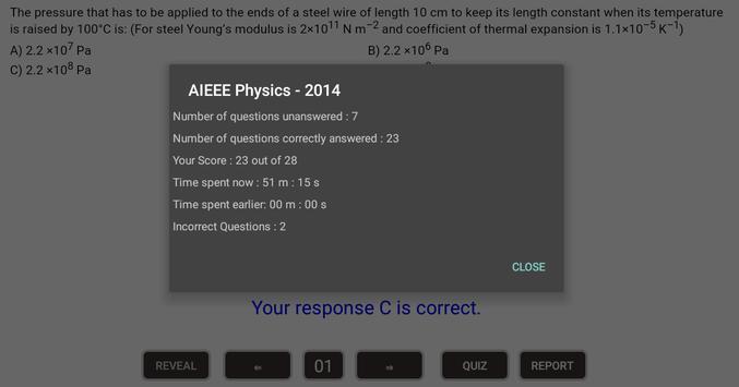 AIEEE - Physics apk screenshot