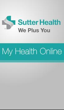 Sutter Health My Health Online poster