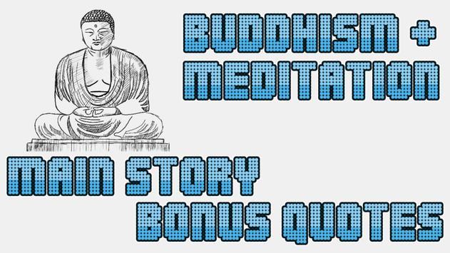 Buddhism & meditation poster