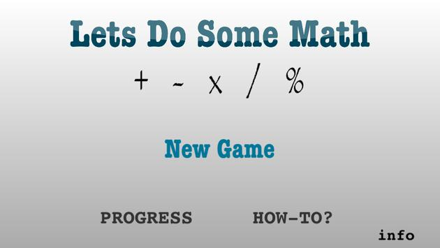 Try Math: Add +- Multiply x/% poster