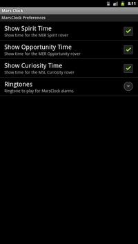 MarsClock apk screenshot