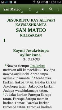 Quechua San Martín - Bible poster