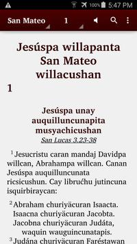 Quechua Panao - Bible poster