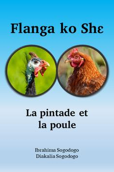 Le guinea fowl and the chicken. poster
