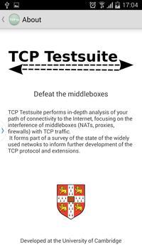 TCP Testsuite screenshot 2