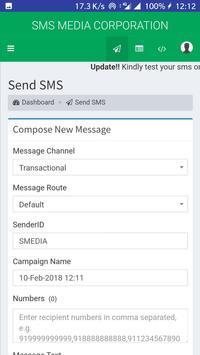 SMS MEDIA App screenshot 3