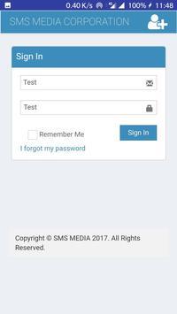 SMS MEDIA App screenshot 1