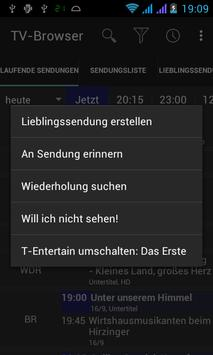 TV-Browser Switch T-Entertain apk screenshot