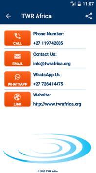 TWR Africa apk screenshot
