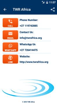 TWR Africa apk screenshot