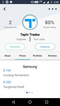 Tapin Trades, Promote Yourself apk screenshot