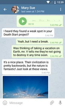 Telegram apk screenshot
