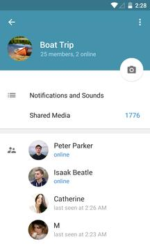 Telegram captura de pantalla de la apk