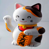 3D Beckoning cat icon