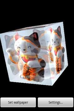 3D Beckoning cat poster