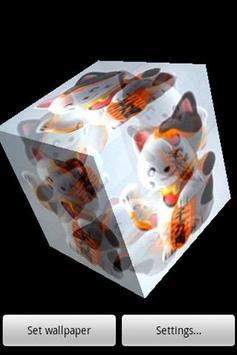 3D Beckoning cat apk screenshot