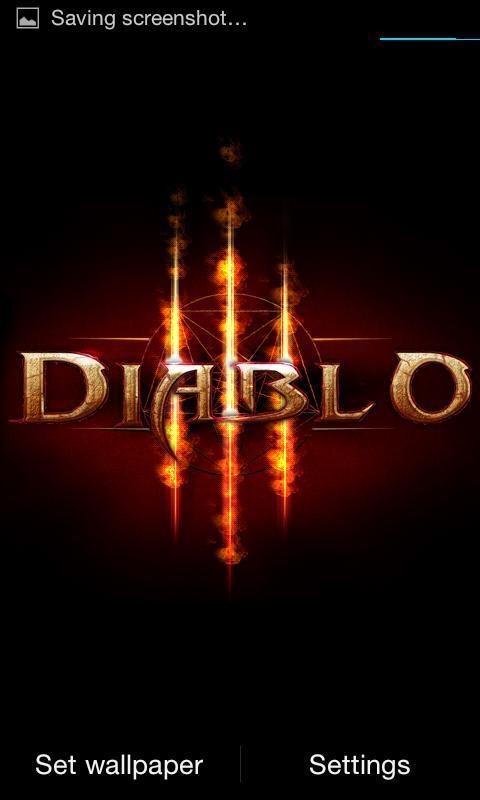 Diablo 3 Fire Live Wallpaper Poster Apk Screenshot