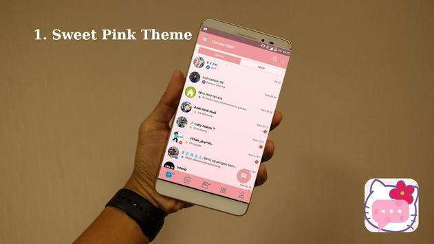 BM Delta Cute Pink Theme apk screenshot