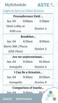 ASTE Conference apk screenshot