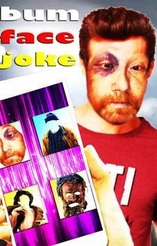 Homeless Face Stylish Joke poster