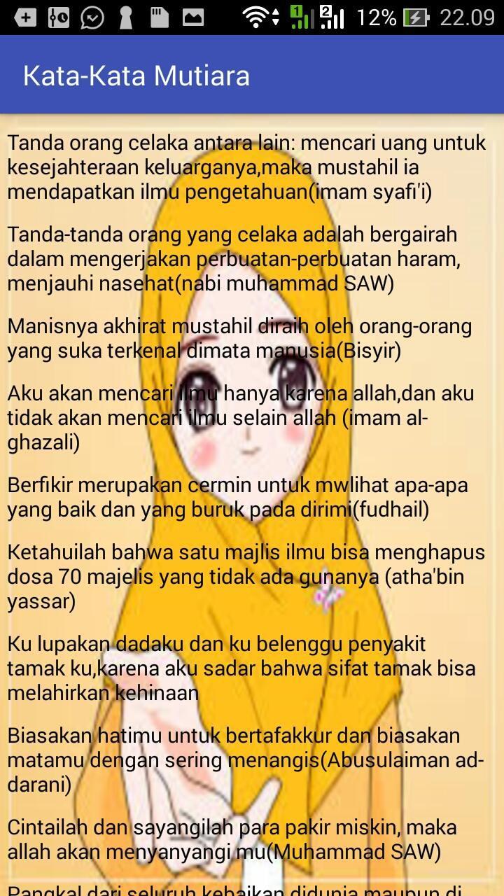 Kumpulan Kata Kata Mutiara Islam For Android Apk Download