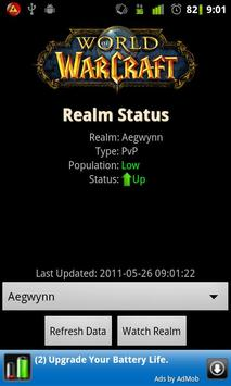 WoW Realm Status poster