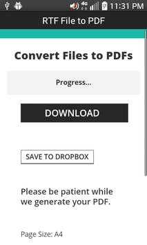 RTF File to PDF screenshot 4