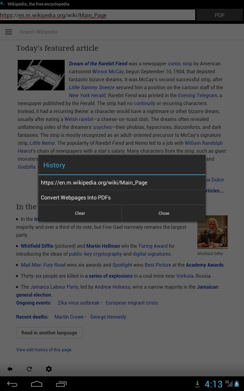 Webpage to PDF cho Android - Tải về APK