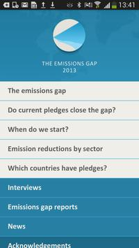 The emissions gap poster