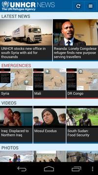 UNHCR News apk screenshot