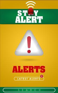 Stay Alert poster