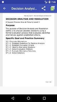 CMMI Quick Reference apk screenshot