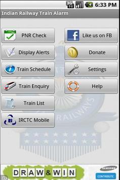 Indian Railway Train Alarm poster