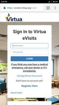 Virtua eVisits screenshot 1