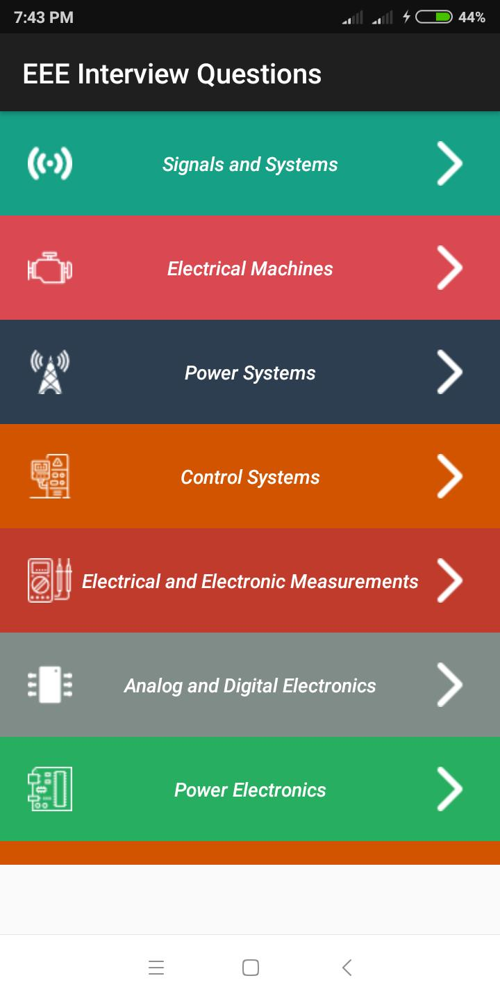 Electrical Interview Questions (Subject Wise) for Android