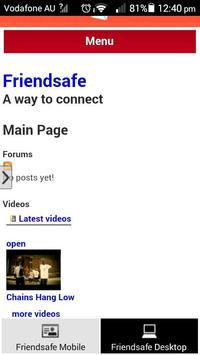 Friendsafe Messenger apk screenshot