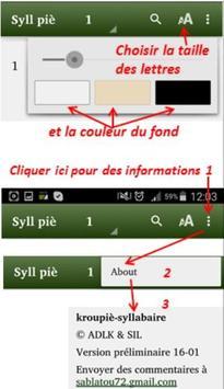 Kroumen piè Syllabaire screenshot 7