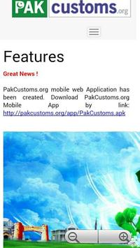 Pakistan Customs Information Portal poster