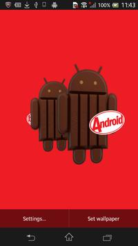 KitKat 3D Live Wallpaper poster