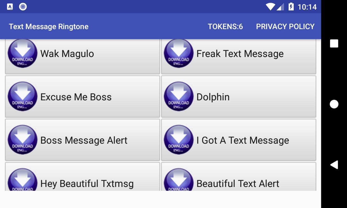 Text message ringtones download