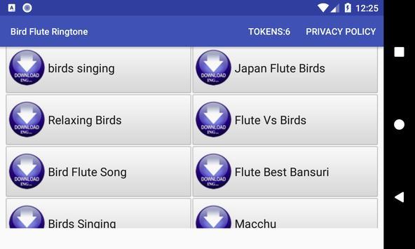 Bird Flute Ringtone: phone ringtone app. screenshot 10