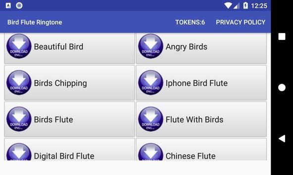 Bird Flute Ringtone: phone ringtone app. screenshot 1