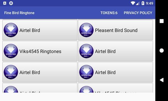 Fine Bird Ringtone: phone ringtone app screenshot 10