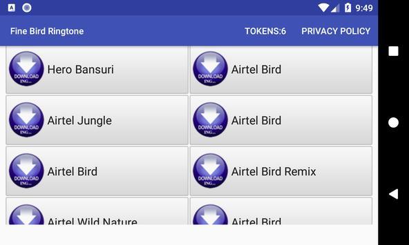 Fine Bird Ringtone: phone ringtone app screenshot 1