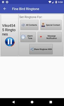 Fine Bird Ringtone: phone ringtone app screenshot 2